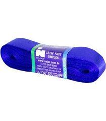 fita de cetim nº03 15mm peça com 10m azul royal