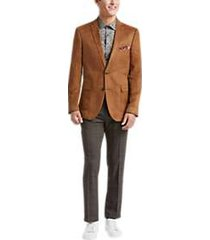 paisley & gray slim fit suit separates coat cognac ultrasuede