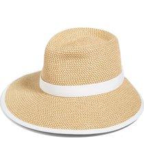 women's eric javits 'sun crest' packable hybrid fedora visor -