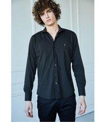 camisa negra airborn lunares
