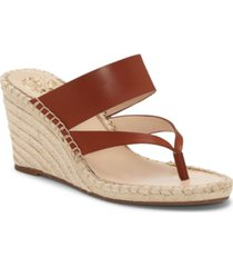 vince camuto women's lavanda thong wedge sandals women's shoes