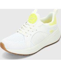 tenis lifestyle blanco-amarillo skechers sport sparrow 2.0