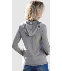 sweatshirt dress in marinblå::benvit