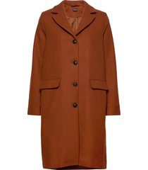 matilda coat wollen jas lange jas oranje r-collection