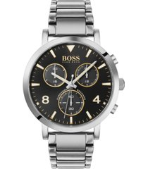 boss men's chronograph spirit stainless steel bracelet watch 41mm
