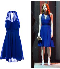 la la land mia emma stone costumes one-piece dress summer dress beach dress