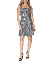 laundry by shelli segal animal-print sequined dress