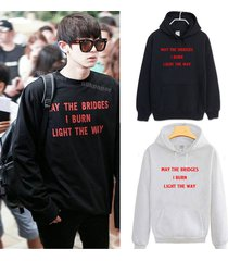 kpop exo cap hoodie chanyeol airport fashion sweatershirt coat unisex pullover
