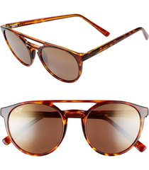 women's maui jim ah dang! 52mm polarizedplus2 flat top sunglasses -