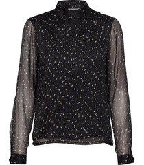 deka blouse blouse lange mouwen zwart minus