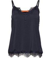 strap top w. lace blus ärmlös svart coster copenhagen
