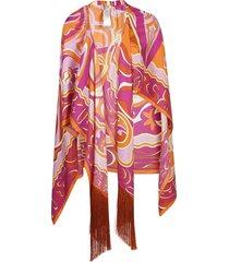 emilio pucci fringe detailed dress