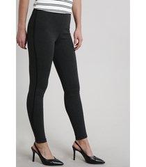 calça legging feminina básica cinza mescla escuro