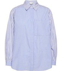 evelin shirt overhemd met lange mouwen blauw second female