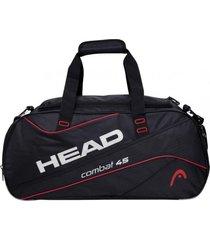 bolso deportivo combat 45 negro rojo head