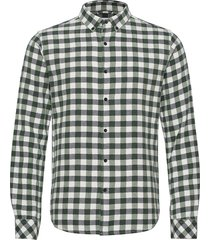 fishb checked flannel shirt - go overhemd casual groen knowledge cotton apparel