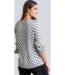 blus alba moda grå::offwhite