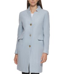 dkny petite single-breasted boucle walker coat, created for macy's