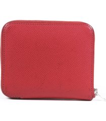 hermes silk'in epsom leather compact wallet