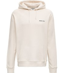 axel arigato london hoodie in beige jersey with logo