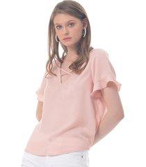 blusa para mujer en poliester rosa-mag