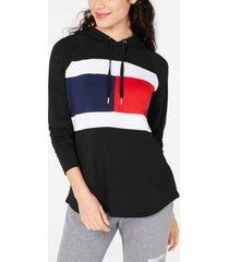 tommy hilfiger sport colorblock lightweight flag hoodie