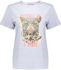 geisha t-shirt short sleeves light blue
