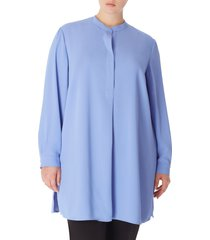 anne klein tunic blouse, size 2x in peacock blue at nordstrom