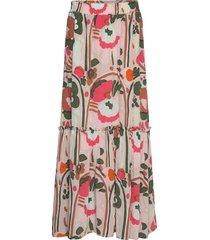 kaakko karuselli lång kjol multi/mönstrad marimekko