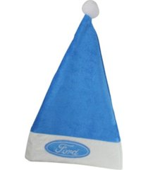 """northlight 18"""" blue and white ford christmas santa hat with white brim - adult size"""