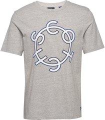 scotch & soda crew neck logo tee t-shirts short-sleeved grå scotch & soda