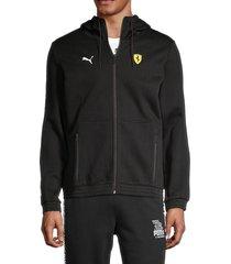 puma ferrari men's hooded jacket - black - size xxl