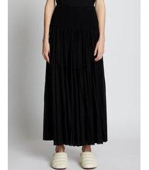 proenza schouler knit gauze combo draped skirt black 8