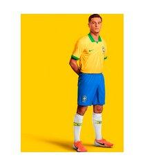 camiseta nike brasil comemorativa copa américa 2019/20 jogador masc...