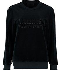 alberta ferretti cotton crew-neck sweatshirt