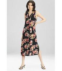 natori geisha challis gown, women's, size l