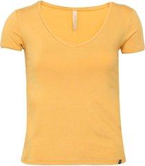 blusa lunender lisa amarela - amarelo - feminino - viscose - dafiti