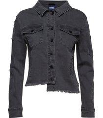madrid jacket jeansjack denimjack zwart svea