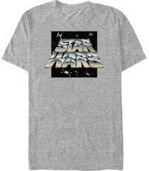 star wars men's classic chrome logo short sleeve t-shirt