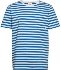 verkstad t-shirt t-shirts short-sleeved blå makia