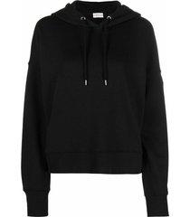metallic lettering top hoodie