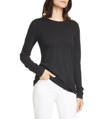women's rag & bone the long sleeve tee, size medium - black
