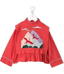 raspberry plum montana blouse - red