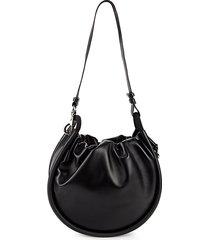 leather circle shoulder bag