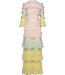 carmine maxi dress maxi dress galajurk roze by malina