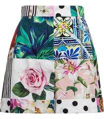 dolce & gabbana patchwork cotton shorts