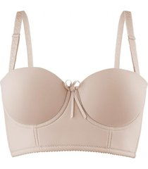 sosten strapless push up beige baziani