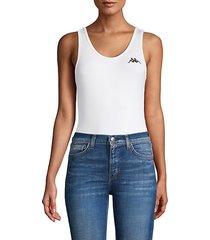 sleeveless logo bodysuit