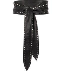 iro studded waist belt - black