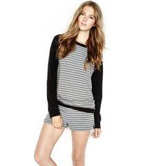 yates pullover raglan sweatshirt - l grey black